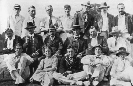 Allahakbarries in 1913, with J.M. Barrie, middle row, third from left